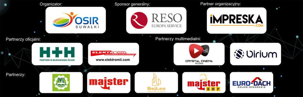 Pasek sponsorów RESO Suwałki Football League